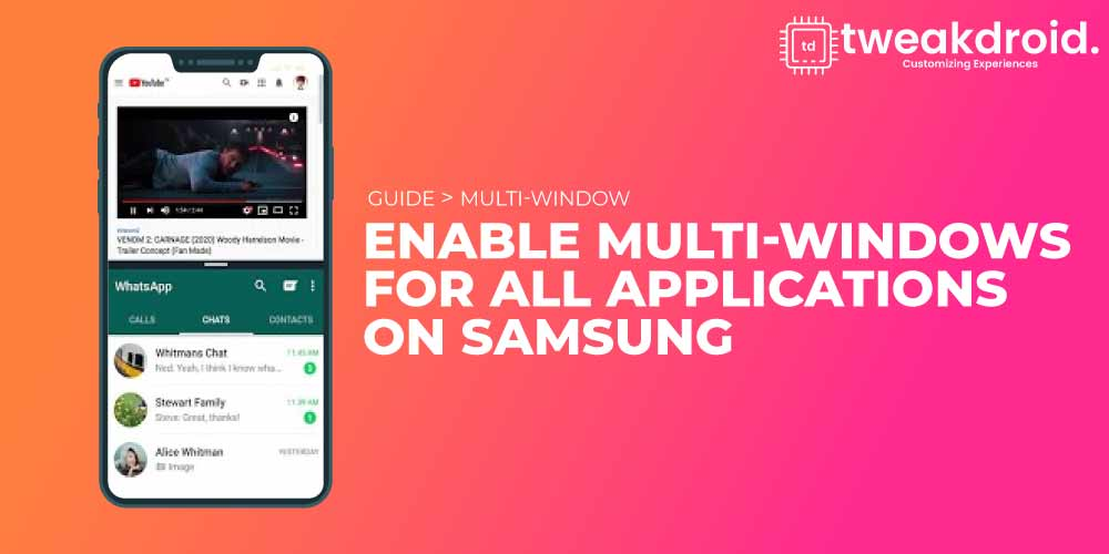 How to enable multi-windows for all applications on Samsung